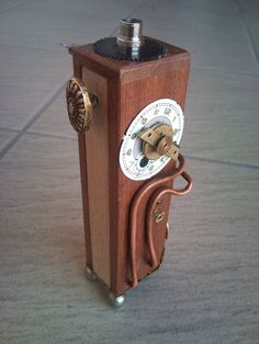 steampunk wood e cig mod I/2 by EagleTalon69