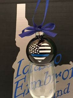 thin blue line heart ornament thin blue line police ornament thin blue line ornament thin blue line support police support ornaments