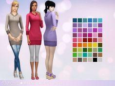 Maxine Sweater Dress at Aveira Sims 4