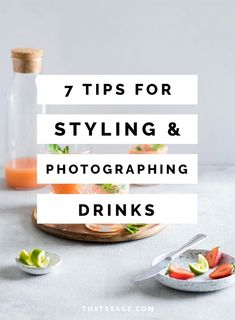 Photographing drinks is a fun aspect of food photography, but does have it's own challenges. Click to read my seven tips for styling and photographing drinks! #foodphotography #foodstyling ##foodblogger #foodblog
