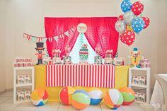 Tirso cumple uno! | CatchMyParty.com Circus Carnival Party, Carnival Birthday Parties, Birthday Cake, Party, Ideas, Meet, Birthday Cakes, Cake Birthday