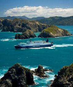 New Zealand - Across the Cook Strait between Wellington and Picton