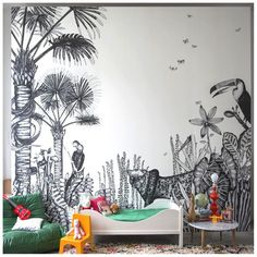 Kids' Rooms with Tropical Inspiration http://petitandsmall.com/kids-rooms-tropical-decor-inspiration/