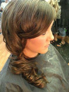 side updo formal style hair color for brunettes