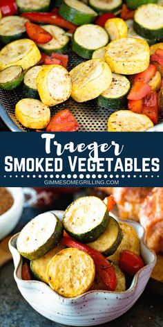 Easy and delicious side dish recipe made on your Traeger! Throw these vegetable … Easy and delicious side dish recipe made on your Traeger! Throw these vegetable that have a blasamic marinade on them on your Traeger Smoker for dinner tonight! Traeger Smoker Recipes, Pellet Grill Recipes, Grilling Recipes, Grilling Tips, Electric Smoker Recipes, Bbq Tips, Side Dish Recipes, Veggie Recipes, Healthy Recipes