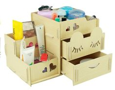 Menu Life Home Office Desk Tidy Box Jewellery Storage Organiser Box (Beige)