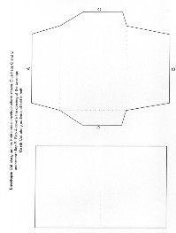Envelope Pattern for DIY wedding invitations