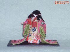 童女 彩人形-手のひらサイズの和紙人形-