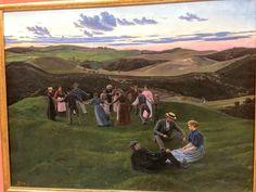 Fritz Syberg Aftenleg i Svanninge bakker Faaborg Museum #visitfyn #visitfaaborg