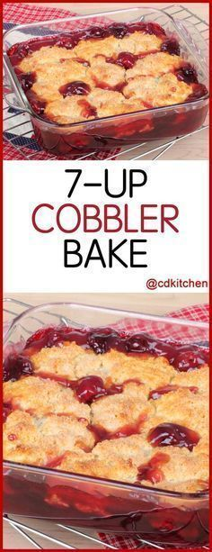 Cobbler Bake A delicious dessert with only three ingredients Cherry pie filling is topped with dry yellow cake mix and soda is poured over the top then baked until done CDKitchen com is p - Beaux Desserts, Cake Mix Desserts, Cherry Desserts, Oreo Dessert, Köstliche Desserts, Cherry Pie Filling Desserts, Cherry Pie Fillings, Desserts With Cherries, Plated Desserts