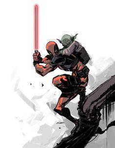 Deadpool Skywalker by Michael O'Hare