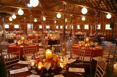 an inside view of the beautiful 100 year old barn at the West Mountain Inn where we will be having our reception