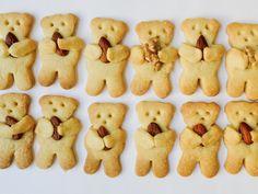 Bären-Kekse mit Mandeln und Nüssen