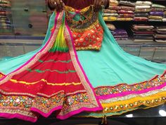 Garba Garba Dress, Navratri Dress, Choli Dress, Western Dresses, Indian Dresses, Indian Outfits, Indian Dance Costumes, Lehenga Crop Top, Chanya Choli