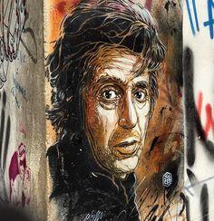 Al Pacino by C215 in Palermo (LP)