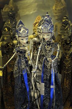 www.villabuddha.com  Bali  #Indonesian Traditional Puppets - It's called Wayang [Indounik: These are wayang golek.] Marionette Puppet, Bali Lombok, Brunei, Archipelago, Tropical, Damn I Love Indonesia, Indonesian Art, Javanese, Puppet Making