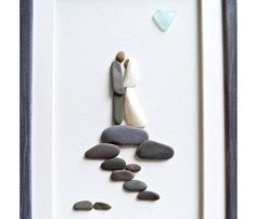 d7f000b7f3fb Wedding pebble art Unique wedding gift Bridal shower gift Unique Wedding  Gifts