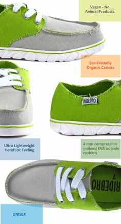 RIDEBRO: Eco-friendly Vegan shoe with a barefoot feel.