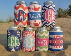 Personalized Koozies! The best place to go. They have the cutest patterns and perfect for party favors!