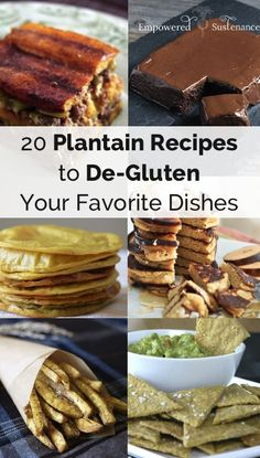 plantain recipes to de-gluten your favorite dishes