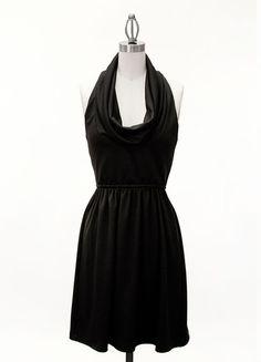 Cowl Neck Racerback Dress Black | Freckles Boutique
