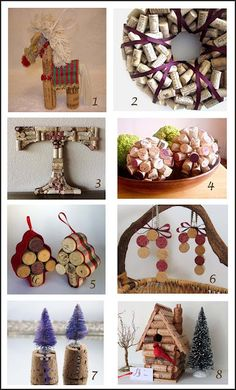 Christmas wine cork crafts. I'm pretty sure we have enough corks laying around the house!