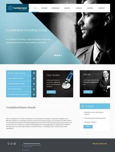 Cumberland Website by Tomas Zeman, via Behance