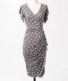 Take a look at this Gray Manhattan Dress by DownEast Basics on #zulily today!