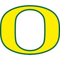 One Size Team Color NCAA Oregon Ducks O Mark s 4 Tall Primary Mascot Vinyl Transfer Paper