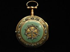 Antique French gold, enamel and diamond fob watch, pocket watch, working Gold Pocket Watch, Pocket Watch Antique, Antique Jewelry, Vintage Jewelry, Chain Pendants, Pendant Watch, Enamel, Pocket Watches, Jewels