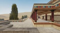 Dimensional representation of the palace of Knossos. Palace, Greek, Mansions, History, House Styles, Outdoor Decor, Home Decor, Art, Art Background