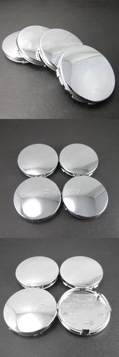 4x 60mm Full Chrome No Logo for Audi A3 A4 S4 A6 S6 A8 TT Wheel Center Hub Caps Hubcaps 4B0 601 170 4B0601170