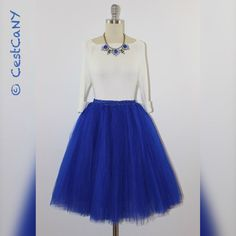 Cassie Royal Blue Tulle Skirt 7-Layers Puffy Princess by CestCaNY