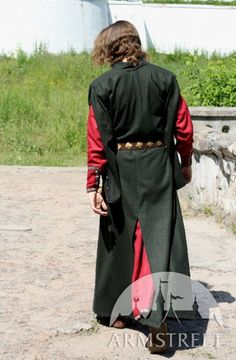 Wool Medieval Men's Coat with Hood. $216.00, via Etsy.
