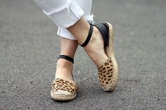 The cutest patterned espadrilles
