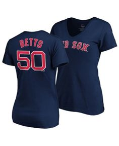reputable site 23147 8ae96 Majestic Women s Mookie Betts Boston Red Sox Player T-Shirt - Blue S