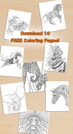 Download 10 Beautiful Adult Coloring Pages For Free Books Click Here