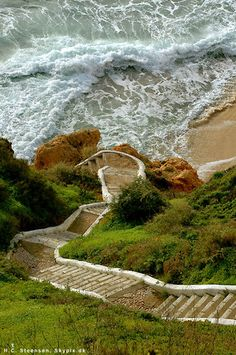 steps to Paradise beach, Algarve- Portugal- descended these - breathtaking