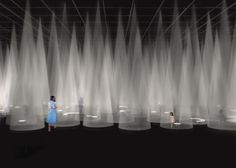 Sou Fujimoto has designed this year's Milan design week installation for fashion brand COS, which will feature cones of light created by spotlights