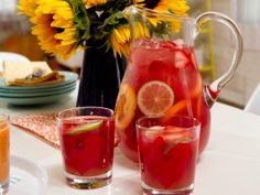 Sinless Sangria Great idea for an easy way to offer a non-alcoholic option and have an infused alcohol handy for the grown ups.