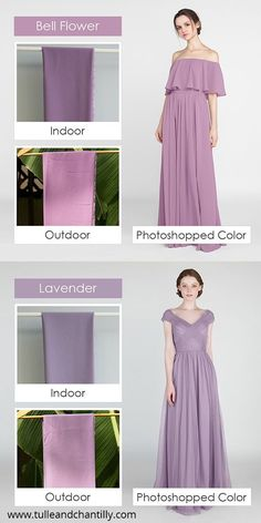 Tulle and Chantilly chiffon fabric under indoors and outdoors, part 4#wedding #weddinginspiration #bridesmaids #bridesmaiddresses #bridalparty #maidofhonor #weddingideas #weddingcolors #tulleandchantilly