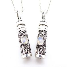We've just restocked these sterling silver & Moonstone poison box necklaceswww.emptycasket.co.uk