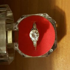 ( Size 6 ) 18K White Gold Filled Ring It's a new without tag 18K white gold filled engagement / promise ring  Size : 6 Does not tarnish or discolor  Come with a box Jewelry Rings
