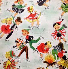 Vintage Hallmark Christmas Wrapping Paper