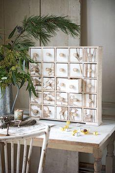 Modern Wooden Advent Calendar Box with Drawers | Gardeners.com