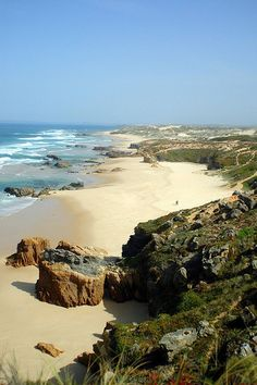 The beach at Malhão, Alentejo, Portugal