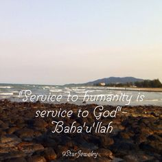 """Service to humanity is service to God""-Baha'u'llah #bahai #bahaifaith #9starjewelry"