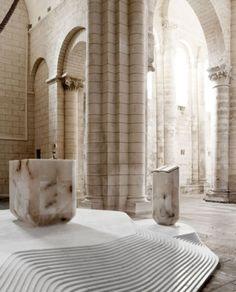 Altar for Saint-Hilaire church by Mathieu Lehanneur.