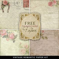 Freebies Vintage Romantic Paper:Far Far Hill - Free database of digital…
