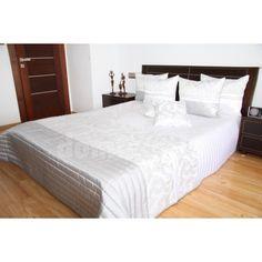 Prehoz na posteľ v elegantnej bielej farbe s prešívaným vzorom Hotel Bed, Bed Sets, Bedding Sets, Luxury, Furniture, Home Decor, Beautiful, Colors, Decoration Home